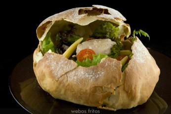 Pan sorpresa relleno de ensalada