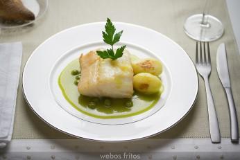 Bacalao confitado con salsa verde