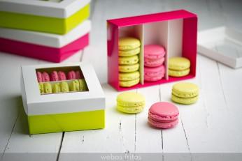 Macarons de frambuesa y chocolate
