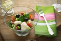 Ensalada de coliflor y anchoas