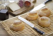 Caracolas de pan con poolish