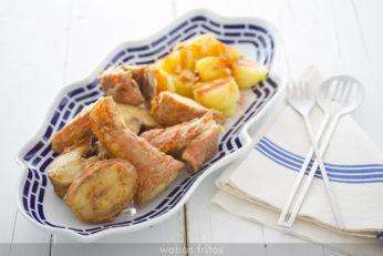 Salmonetes con patatas